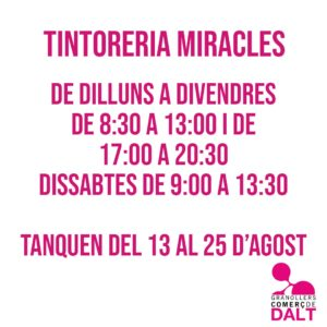 Tintoreria Miracles Granollers