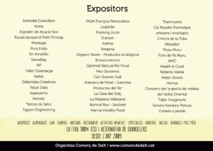 expositors fira Ecogra 2018