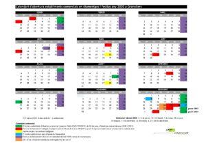 calendari obertura comercial en Granollers 2020